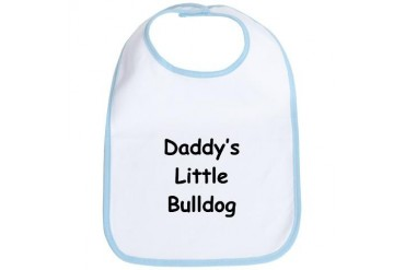 Daddy's Little Bulldog Sports Bib by CafePress