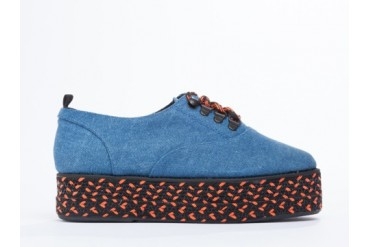 Farewell Technical Sole Derby in Blue size 9.0