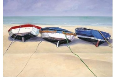 Beach Boats, St Ives Poster Print by Jane Hewlett (10 x 14)