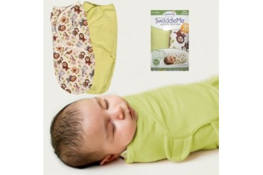 Summer Infant SwaddleMe Wrap S M Jungle Buddies Baby 2PK Adjustable Unisex