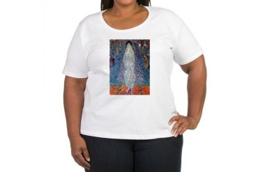 Gustav Klimt Baroness Elizabeth Women's Plus Size Vintage Women's Plus Size Scoop Neck T-Shirt by CafePress
