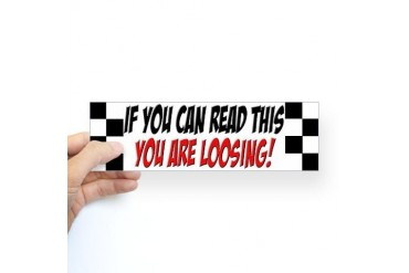Street Racing Car Bumper Sticker Funny Sticker Bumper by CafePress