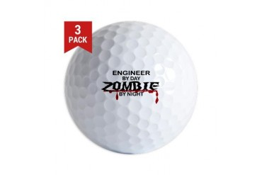 Engineer Zombie Military Golf Balls by CafePress