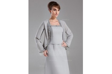 Long Sleeve Chiffon Special Occasion Wrap (013015956)
