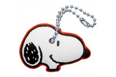 Peanuts Snoopy Head Side Key Cap Flexible Keychain
