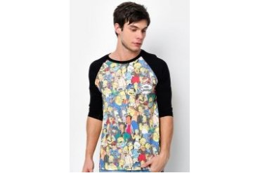The Simpsons @ urban TEE Casual Raglan Tee