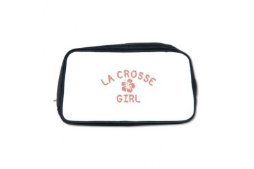 La Crosse Pink Girl Wisconsin Toiletry Bag by CafePress