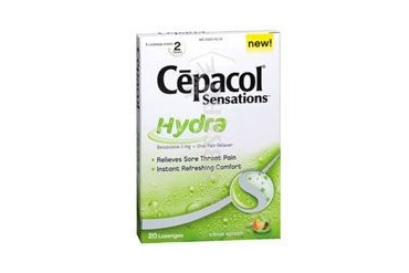Cepacol Sensations Hydra Lozenges Citrus Splash 20 Lozenges
