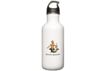 Mystic Seaport Mermaid Stainless Water Bottle 1.0L by CafePress