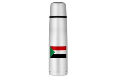 Sudan Large Thermos Bottle Flag Large Thermosreg; Bottle by CafePress