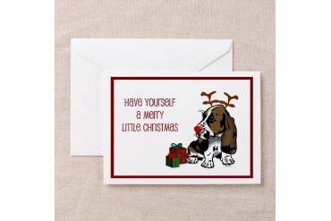 Basset Hound Christmas Greeting Cards Package of Pets Greeting Cards Pk of 10 by CafePress