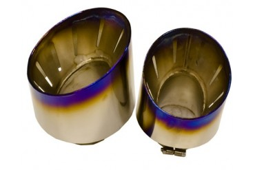 Titek Titanium Vented Race Tips x4 Optional for Factory or Titanium Exhaust Nissan R35 GTR 09-14