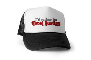 Rather Be Ghost Hunting Ghost Trucker Hat by CafePress