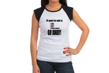 Go away, normal boys Humor Women's Cap Sleeve T-Shirt by CafePress