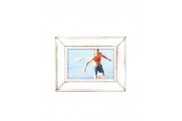 Chaba 4x6 Recycled Wood Picture Frame White