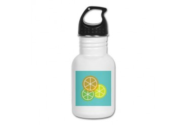 Fruta: Naranja Lima Limon Spanish Kid's Water Bottle by CafePress