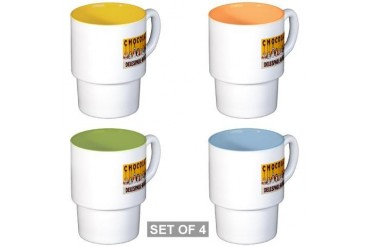 Delespaul-Havez Chocolate Stackable Mug Set 4 mug Kids Stackable Mug Set 4 mugs by CafePress