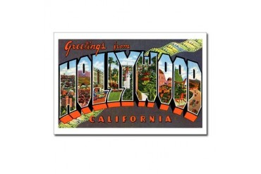 Hollywood California Greetings Postcards Package Vintage Postcards Package of 8 by CafePress