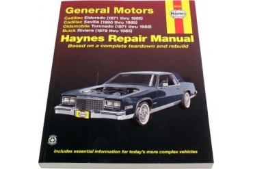 1971-1985 Cadillac Eldorado Manual Haynes Cadillac Manual 38030 71 72 73 74 75 76 77 78 79 80 81 82 83 84 85
