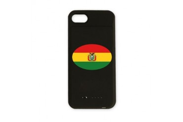 BOLIVIA OVAL.png Flag iPhone Charger Case by CafePress