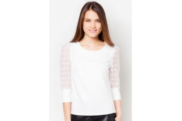 TLA Diamond Long-Sleeved Chiffon Top