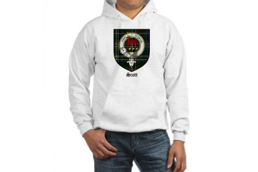 Scott Clan Crest Tartan Scottish Hooded Sweatshirt by CafePress