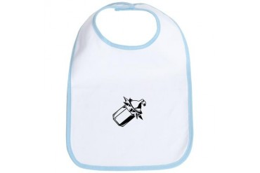 Punk Rock Spikey Bottle Baby Bib by CafePress