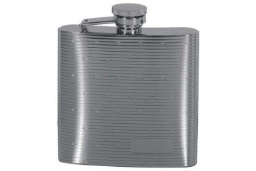 6oz. Polished Flask With Dots - Rimless