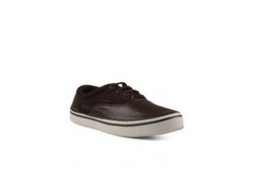 Crocs Hover Leather Plim Sneaker Espresso Stucco
