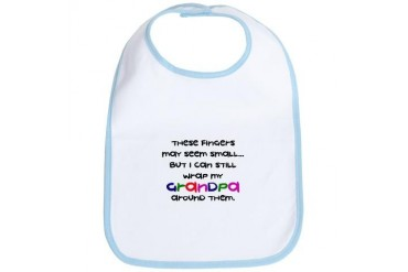 Grandpa Wrapped Around Finger - Funny Bib by CafePress