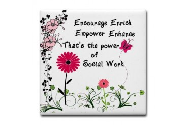 Power of Social Work Tile Coaster