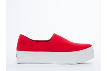 Opening Ceremony Slip On Platform Sneaker in Tiger Red size 10.0