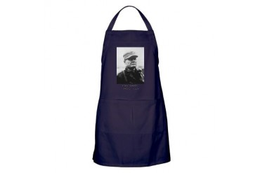 Chesty Puller w text Usmcfp Apron dark by CafePress