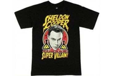 Big Bang Theory Sheldon Cooper One Lab Accident Away From Being A Super Villain Shaded Face T-Shirt
