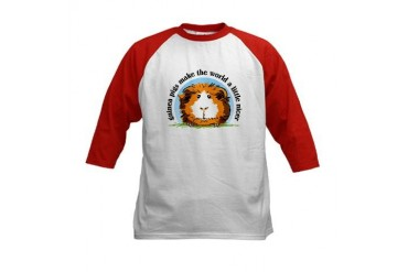 Guinea pigs make the world... Kids Baseball Jersey