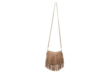 Mini Fringe Suede Bag in Taupe - designed by JJ Winters