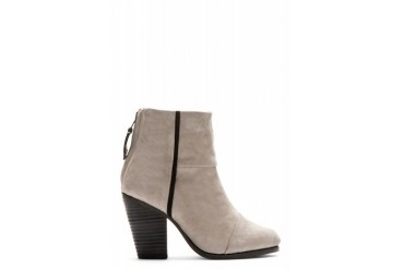 Rag And Bone Grey Nubuck Classic Newbury Ankle Boots