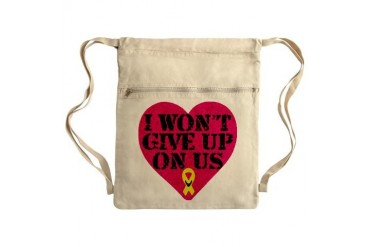 I Won't Give Up: Air Force Sack Pack Air force Cinch Sack by CafePress