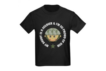 My Daddy is a Soldier Kids Dark T-Shirt