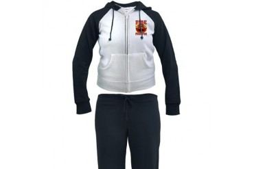 Fire Fighter - Red Helmet Firefighter Women's Tracksuit by CafePress