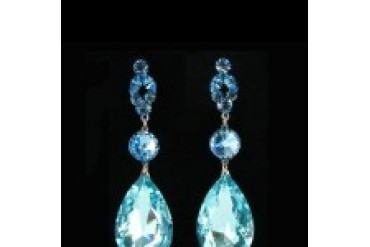 Jim Ball Earrings - Style CE634-Aqua
