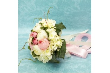 Charming Free-Form Satin Bridal Bouquets (124032047)