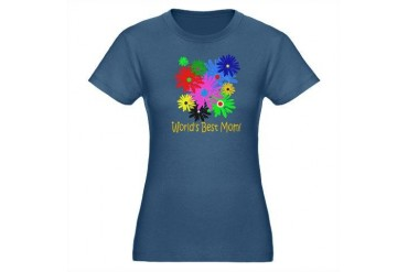 Worlds Best Mom Organic Women's Fitted T-Shirt da Mom Organic Women's Fitted T-Shirt dark by CafePress