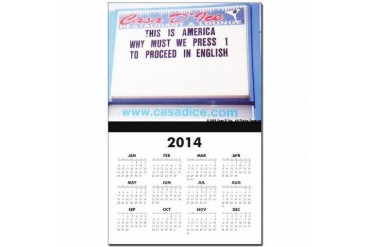 12-Month/Year-At-A-Glance Cupsthermosreviewcomplete Calendar Print by CafePress