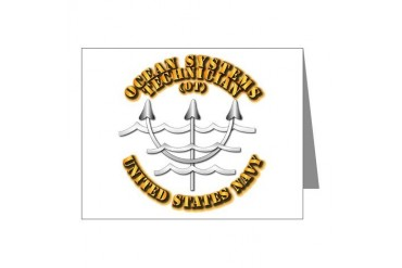 Navy - Rate - OT Navy Note Cards Pk of 10 by CafePress