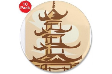 pagoda copy.png Japanese 3.5 Button 10 pack by CafePress