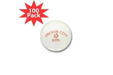 Oregon City Pink Girl Oregon Mini Button 100 pack by CafePress