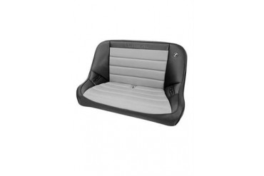Corbeau Baja Rear Bench Seat in Black Vinyl/ Grey Cloth 64019 Seat