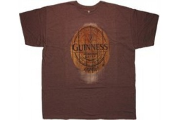 Guinness Oval Wood Logo Urban T-Shirt