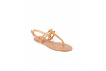 Pierre Dumas 'Lara' T-Strap Thong Sandals Tan, 6